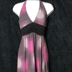 Fun Polka Dot Halter Dress